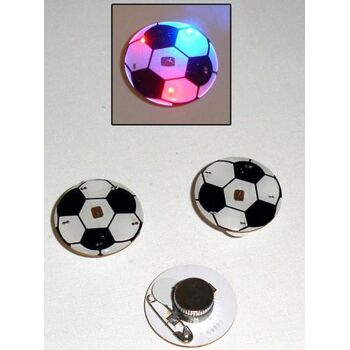 27-41923, leuchtender Anstecker Fussballmotiv, Party, Event, Stadion Publicviewing Fanmile, usw