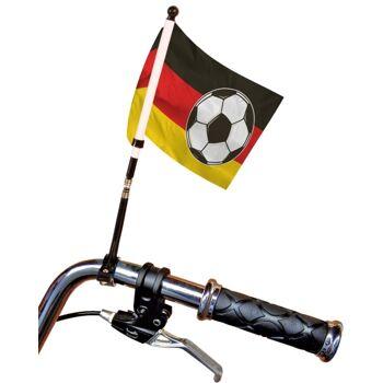 27-44259, Deutschland Fahrrad Fahne am Stab, BRD Flagge, Fahne