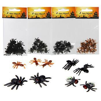 17-28522, Insekten Sortiment, Ameisen, Fliegen, Spinne, Totenkopf, Party, Halloween, Event, usw
