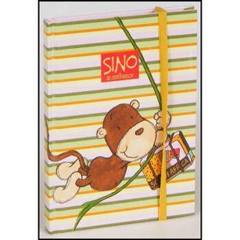 28-11312, Notizbuch Sino Steinbeck mit lustigen Aufklebern