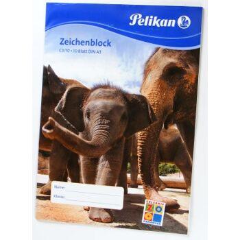 28-22878, PELIKAN Zeichenblock A3, Zootiere
