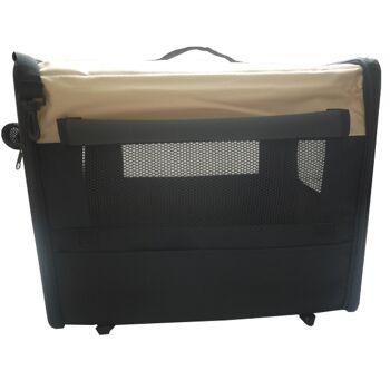 Hundetransportbox HBF-5026 beige S Transportbox faltbare Hundebox Reisebox