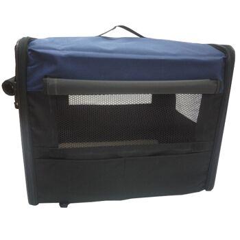 Hundetransportbox HBF-5026 blau S Transportbox faltbare Hundebox Reisebox