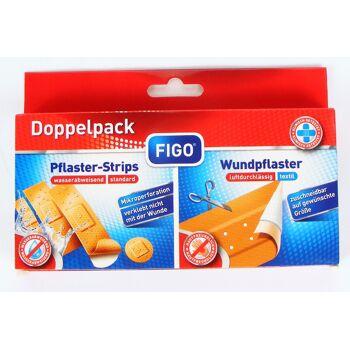 28-317163, Pflaster Doppelpack 21er Pack, Strips in 4 Größen, mit Wundpflaster