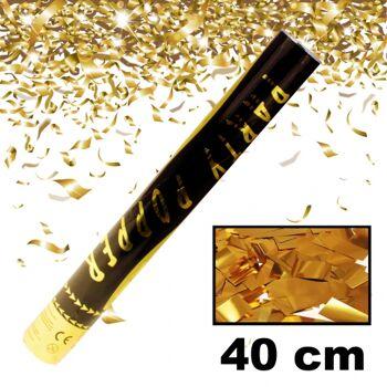 Konfettishooter / Partypopper Gold 40cm Hochzeit Wedding Geburtstag