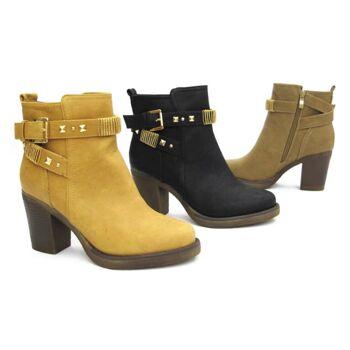 Damen Stiefeletten Stiefel Schuhe Gr. 35-40