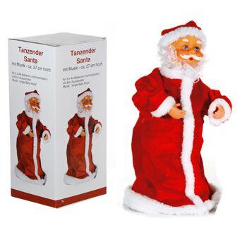 17-28797, Weihnachtsmann, tanzend und drehend, mit Musik, 27 cm, Nikolau