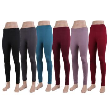 Modische Damen Thermo Leggings Leggins mit  in versch. Farben nur 2,29 EUR