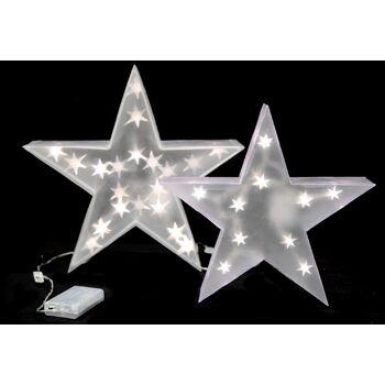 17-28675, LED Stern 30 cm, Weihnachtsdeko, 10 LED Lichter