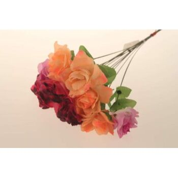 10-50782, Champanger Rose 45 cm, mit Tautropfen, Kunstblume, Dekoblume