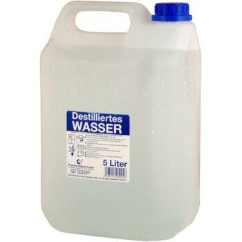 12-400003, Destilliertes Wasser, 5 Liter, im Plastikkanister, entmineralisiert, chemisch rein