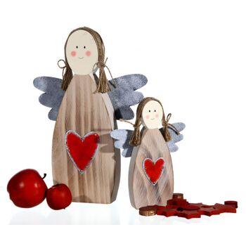 17-42085, Holz Engel 15 cm, Dekofigur, Weihnachten