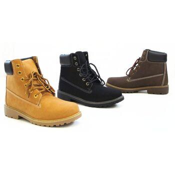 Herren Outdoor  Allwetter Boots Schnür Schuhe Stiefel nur 12,49 Euro