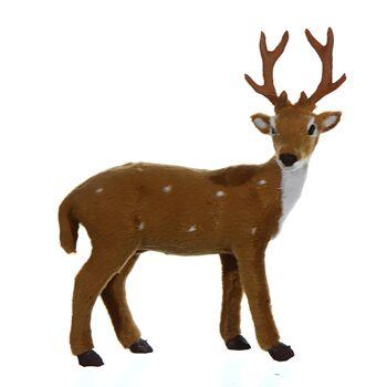17-41939, Hirsch, stehend, 16cm, Weihnachtsdeko, Basteln, Modellbau, Eisenbahn, usw