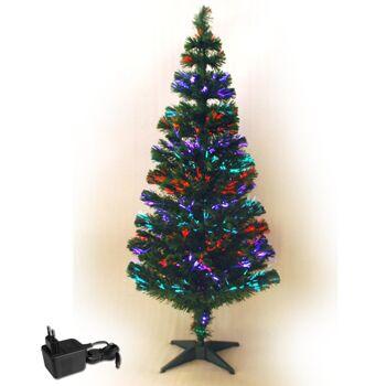Sonderposten Discounter Leuchtender Fiberglas Weihnachtsbaum Glasfaserspitzen, ca.90cm