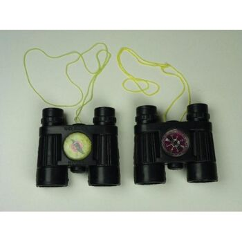 Fernglas mit Kompass und Umhängeband