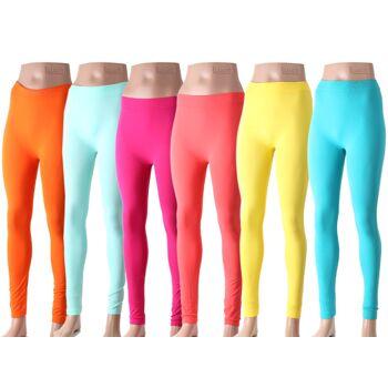Damen Sommer Leggings Legging Neon Trendfarben Modische Bunte Farben nur 1,99 Euro