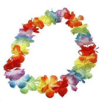 Hawaiikette Seidenblüten, Blumenkette, Hawaiiblumenkette, Partyknaller, Fete, Event, Strand, Gartenparty, usw.