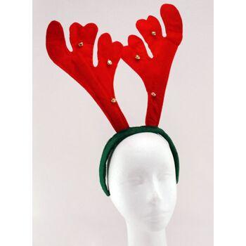 27-42612, Weihnachts Geweih mit Glocken, 36x31 cm, Renntier