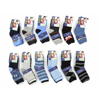 Jungen Kinder Thermo Socken verschiedene Farben Motive Muster - Gr. 23-38 - für 0,69 EUR je Paar