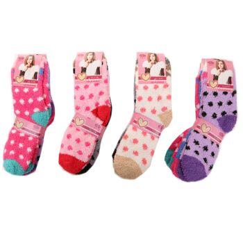 Damen Kuschelsocken Socke Winter Socken Socks Damensocke Haussocken nur 0,74 Euro
