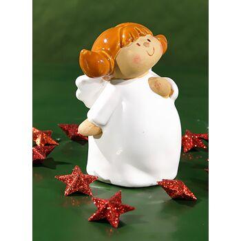 17-93202, Engel mit Zöpfen, Keramik
