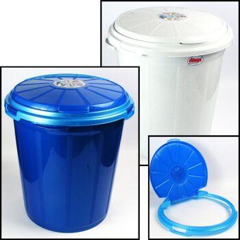 28-020088, Abfalleimer 50 Liter mit Deckel, Tonne, Wäscheeimer, Spielzeugtonne, Mülltonne, Mülleimer, usw.