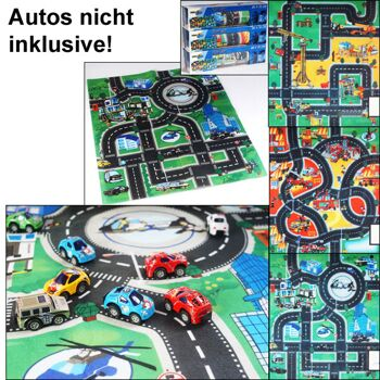 28-298191, Rennstrecke Spielmatte 80 x 70 cm, Straßendesigns, Autorennbahn