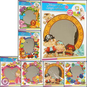 28-723266, Spiegel zum Aufkleben, 3D, Kindermotive mit Spiegelfolie