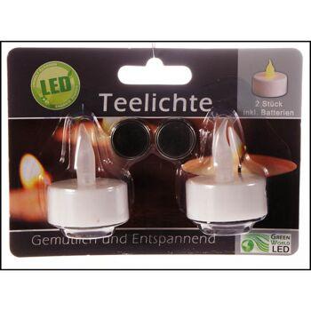 28-900639, LED Teelicht 2er Set, LED Licht, inkl. Batterien, Teelichtkerze