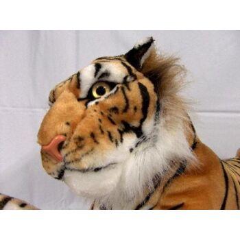 06-2352, Tiger 125 cm, braun liegend - Plüschtier, Kuscheltier