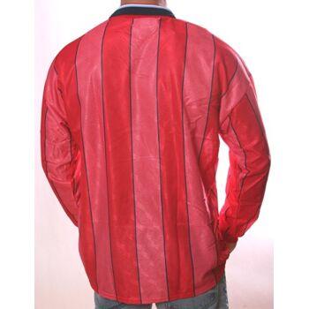 Vintage Langarm Sportshirt für Herren von Umbro in Rot mit Streifen POLOSHIRT