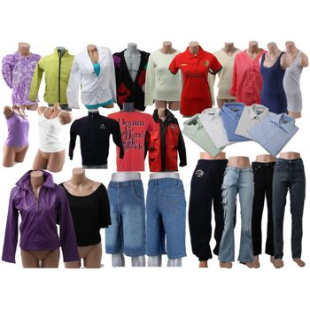 Mix Posten Textilien Hosen Oberteile Blusen Shirts Jeans Sweater Hemden Kleider Jacken 1,59 Euro