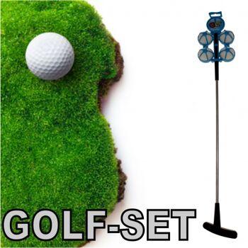 10-546670, Golfset 5-teilig, mit 4 Bällen und Schläger, Bürogolf / Kindergolf / Beachgolf, Indoor und Outdoor geeignet