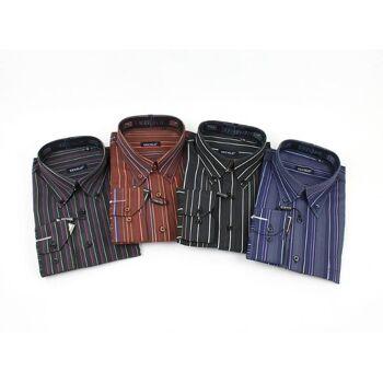60 x Herren Business Herren Hemden Men  gestreift modische Farben nur 4,79 Euro