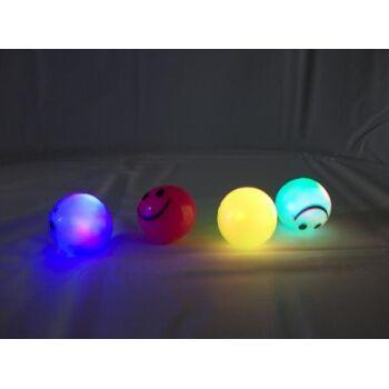 LED Springball mit Blinklicht und Lachgesicht,
