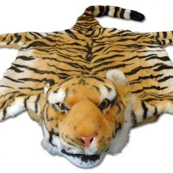 10-122210, Tigerfell braun, 140 cm, Bettvorleger, Kamindeko
