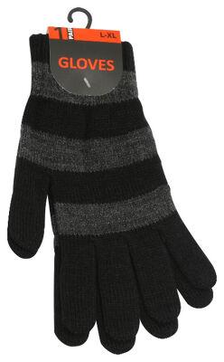 Unisex Strick-Handschuhe mit Blockstreifen