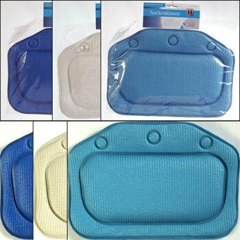 28-157046, Nackenkissen für Badewanne, 33 x 23 cm, rutschhemmend, waschbar und antibakteriell
