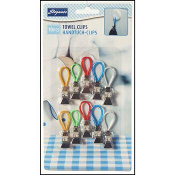 28-983844, Handtuchhaken Metall 10er Pack