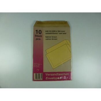 Versandtaschen DIN C4, 10er Pack, 324x229mm, selbstklebend