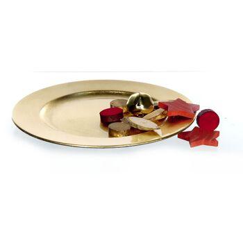 17-11847, Dekoteller, gold, 20 cm, Platzteller