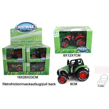 27-45127, Metall Farm Traktor, Farmfahrzeug mit Rückzugsantrieb