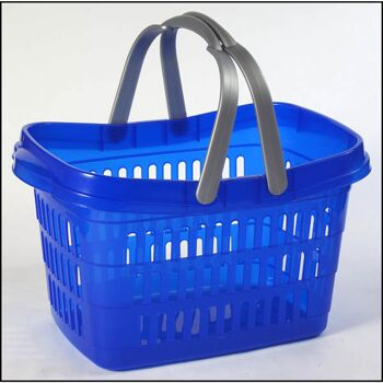 28-370507, Einkaufskorb mit Henkel, 37 x 25 x 21 cm, Einkaufstasche, Flaschenkorb, Strandkorb