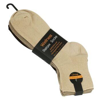 Damen Socken Wohlfühlsocken ohne Gummibund, Farbig