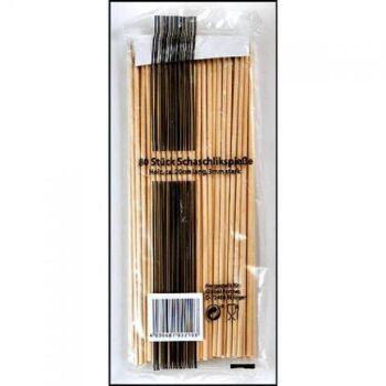 28-022103, Holz Schaschlikspieße 80er Pack, Grillspieß, Grillspiess, Fleischspieß, Kochspieß