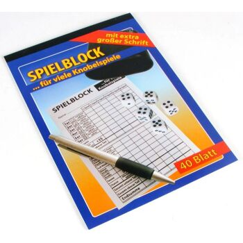 12-015464, Senioren Spielblock A5, extra große Schrift, für viele bekannte Knobelspiele, tolles Gesellschaftsspiel, Camping, Reise, Urlaub, usw