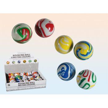 12-601095, Flummi Melting Colours, 4,5 cm, Springball