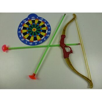 grosses Pfeil- und Bogenset mit Zielscheibe, 4-teilig, Indianerset, Spielset