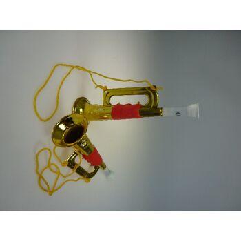 Trompete goldfarben 18,5 cm, Musikinstrument, Party, Event, usw